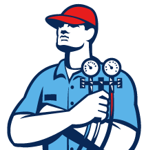 hvac repairman icon